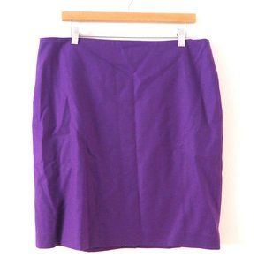 NWT Talbots Purple Skirt sz 14 Fabric by Marzotto